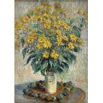Puzzle  Grafika-Kids-01027 Claude Monet - Jerusalem Artischocke Blumen, 1880