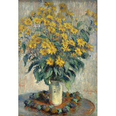 Puzzle  Grafika-Kids-01028 XXL Teile - Claude Monet - Jerusalem Artischocke Blumen, 1880