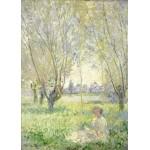 Puzzle  Grafika-Kids-01031 Claude Monet - Frau unter Weiden sitzend, 1880