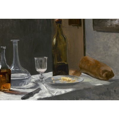 Puzzle  Grafika-Kids-01036 XXL Teile - Claude Monet - Stillleben mit Flaschen, 1863