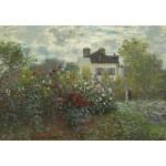 Puzzle  Grafika-Kids-01037 Claude Monet - Der Garten des Künstlers in Argenteuil, 1873