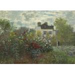 Puzzle  Grafika-Kids-01038 Magnetische Teile - Claude Monet - Der Garten des Künstlers in Argenteuil, 1873