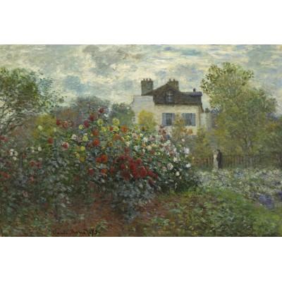 Puzzle  Grafika-Kids-01040 XXL Teile - Claude Monet - Der Garten des Künstlers in Argenteuil, 1873