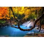 Puzzle  Grafika-Kids-01068 XXL Teile - Wasserfall im Wald