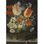Puzzle  Grafika-Kids-01080 Peter Binoit: Still Life with Tulips, 1623