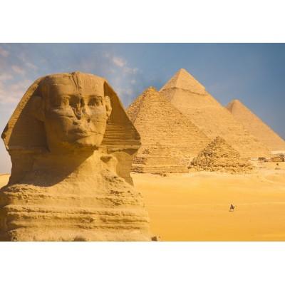 Puzzle  Grafika-Kids-01139 Sphinx und Pyramiden von Gizeh