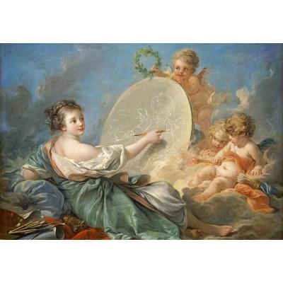 Puzzle  Grafika-Kids-01288 François Boucher: Allegory of Painting, 1765