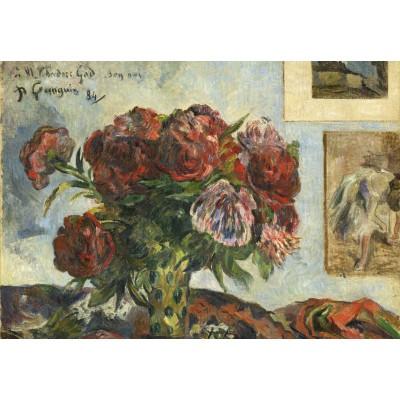 Puzzle  Grafika-Kids-01311 Paul Gauguin: Still Life with Peonies, 1884