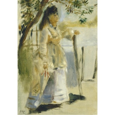 Puzzle  Grafika-Kids-01312 Auguste Renoir: Woman by a Fence, 1866