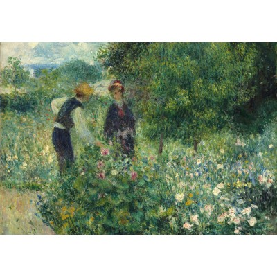Puzzle  Grafika-Kids-01326 Auguste Renoir: Picking Flowers, 1875