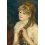 Puzzle  Grafika-Kids-01327 Auguste Renoir: Young Woman Braiding Her Hair, 1876