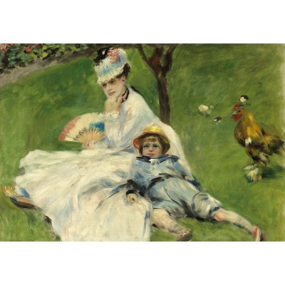 Puzzle  Grafika-Kids-01329 Auguste Renoir: Madame Monet and Her Son, 1874