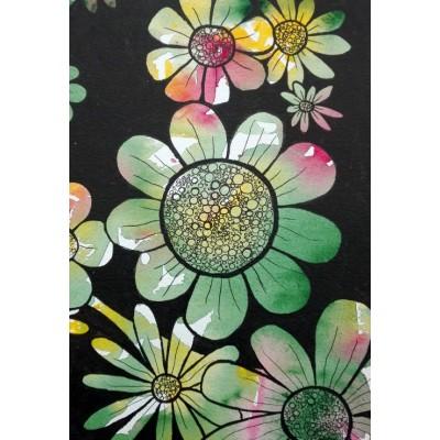Puzzle  Grafika-Kids-01394 XXL Teile - Doodle Flowers