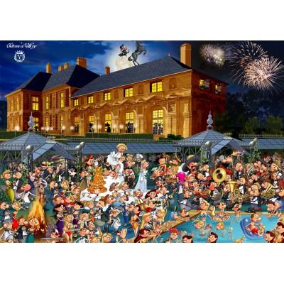 Puzzle  Grafika-Kids-01433 Magnetische Teile - François Ruyer: Château de Vallery