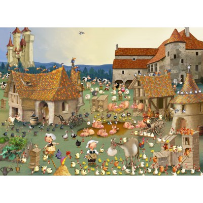 Puzzle  Grafika-Kids-01459 François Ruyer - Bauernhof