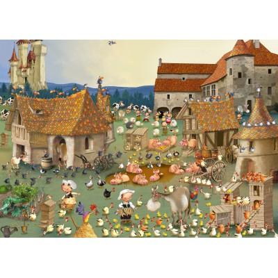 Puzzle  Grafika-Kids-01461 François Ruyer - Bauernhof
