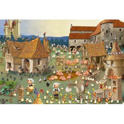Puzzle  Grafika-Kids-01462 XXL Teile - François Ruyer - Bauernhof