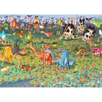 Puzzle  Grafika-Kids-01469 Magnetische Teile - François Ruyer - Dinosaurier