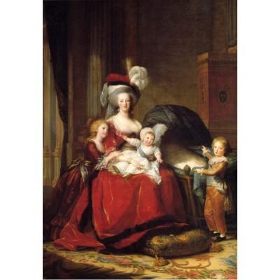 Puzzle  Grafika-Kids-01480 Louise-Élisabeth Vigee le Brun: Marie Antoinette and her Children, 1787