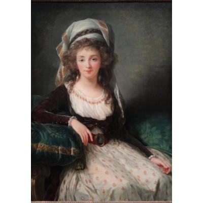 Puzzle  Grafika-Kids-01484 Louise-Élisabeth Vigee le Brun: Madame d'Aguesseau de Fresnes, 1789
