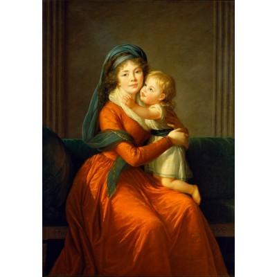 Puzzle  Grafika-Kids-01486 Louise-Élisabeth Vigee le Brun: Princess Alexandra Golitsyna and her son Piotr, 1794