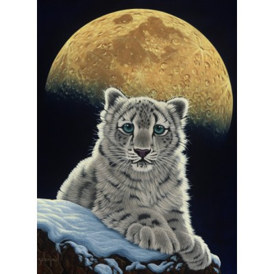 Puzzle  Grafika-Kids-01654 Schim Schimmel - Moon Leopard