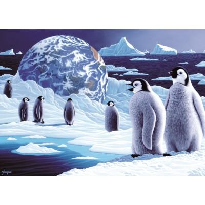Puzzle  Grafika-Kids-01677 Magnetische Teile - Schim Schimmel - Antarctica's Children