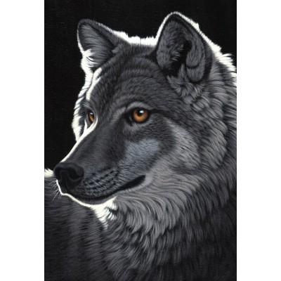 Puzzle  Grafika-Kids-01704 XXL Teile - Schim Schimmel - Night Wolf