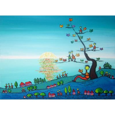 Puzzle  Grafika-Kids-01720 Anne Poiré & Patrick Guallino - Soleil sur Livres