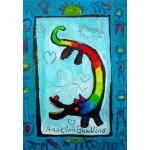 Puzzle  Grafika-Kids-01736 Anne Poiré & Patrick Guallino - Loup Heureux