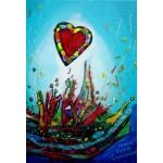 Puzzle  Grafika-Kids-01778 XXL Teile - Anne Poiré & Patrick Guallino - Eclats d'Amour
