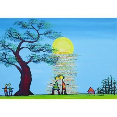 Puzzle  Grafika-Kids-01780 Anne Poiré & Patrick Guallino - Ecrit dans le Ciel