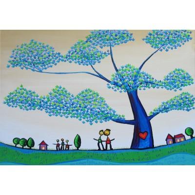 Puzzle  Grafika-Kids-01790 Anne Poiré & Patrick Guallino - Feuilles Protectrices