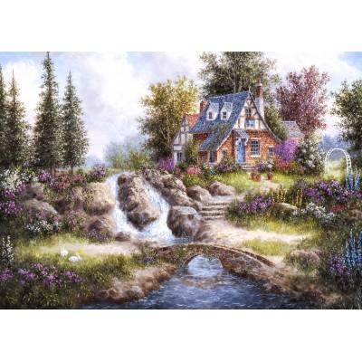 Puzzle  Grafika-Kids-01847 Magnetische Teile - Dennis Lewan - Alpine Falls