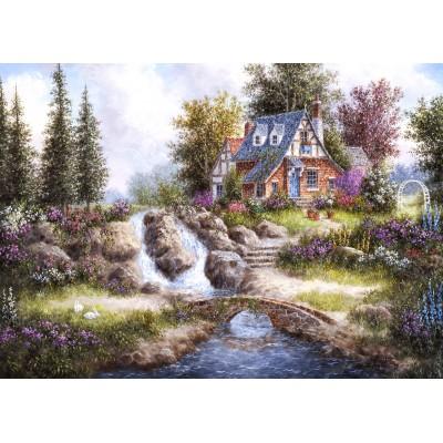 Puzzle  Grafika-Kids-01848 Dennis Lewan - Alpine Falls