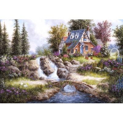 Puzzle  Grafika-Kids-01849 XXL Teile - Dennis Lewan - Alpine Falls
