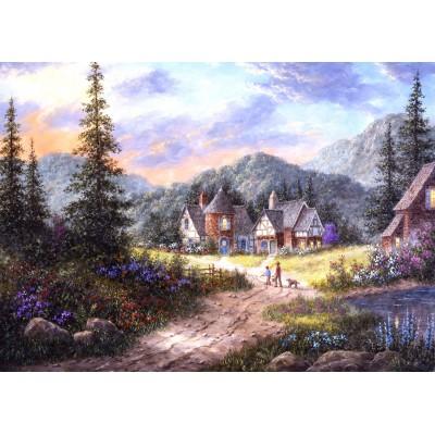 Puzzle  Grafika-Kids-01852 Magnetische Teile - Dennis Lewan - Hills Of Bavaria