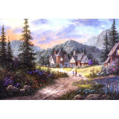 Puzzle  Grafika-Kids-01854 XXL Teile - Dennis Lewan - Hills Of Bavaria