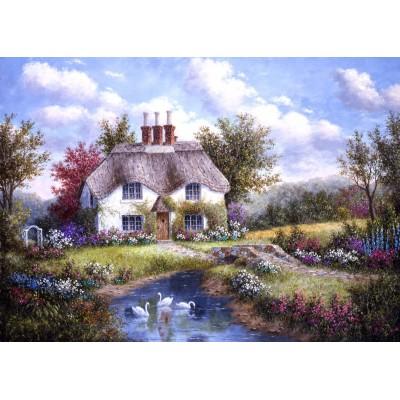 Puzzle  Grafika-Kids-01862 Magnetische Teile - Dennis Lewan - Swan Creek Cottage