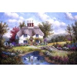 Puzzle  Grafika-Kids-01864 XXL Teile - Dennis Lewan - Swan Creek Cottage