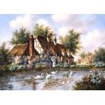Puzzle  Grafika-Kids-01865 Dennis Lewan - Admiring The Swans