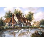 Puzzle  Grafika-Kids-01869 XXL Teile - Dennis Lewan - Admiring The Swans