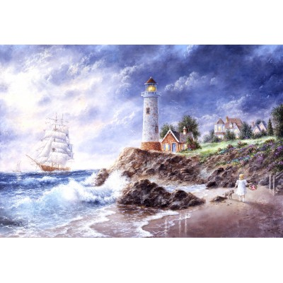Puzzle  Grafika-Kids-01889 XXL Teile - Dennis Lewan - Anchor Cove