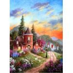 Puzzle  Grafika-Kids-01900 Dennis Lewan - Castle Ridge Manor