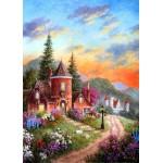 Puzzle  Grafika-Kids-01902 Magnetische Teile - Dennis Lewan - Castle Ridge Manor