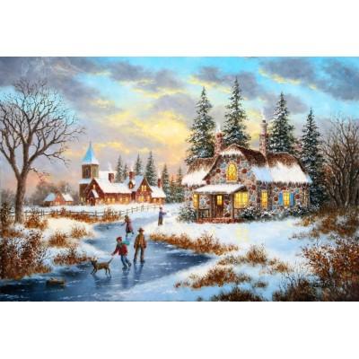 Puzzle  Grafika-Kids-01909 XXL Teile - Dennis Lewan - A Mid-Winter's Eve