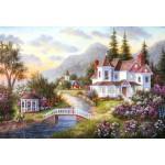 Puzzle  Grafika-Kids-01913 XXL Teile - Dennis Lewan - Angels of the Evening
