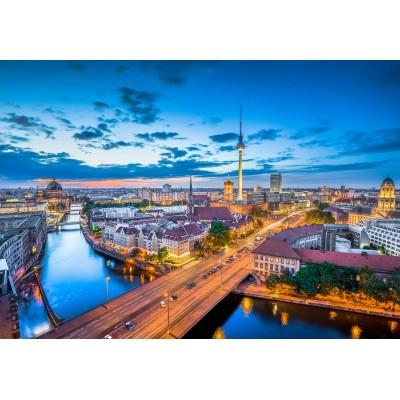 Puzzle  Grafika-Kids-01915 Deutschland Edition - Skyline von Berlin in der Dämmerung