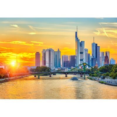 Puzzle  Grafika-Kids-01923 Deutschland Edition - Frankfurt am Main, Bankenviertel