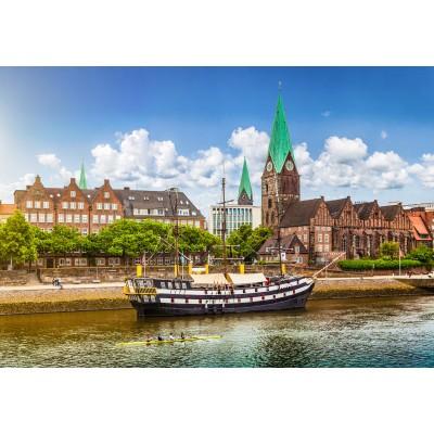 Puzzle  Grafika-Kids-01928 Deutschland Edition - Blick auf historische Stadt Bremen